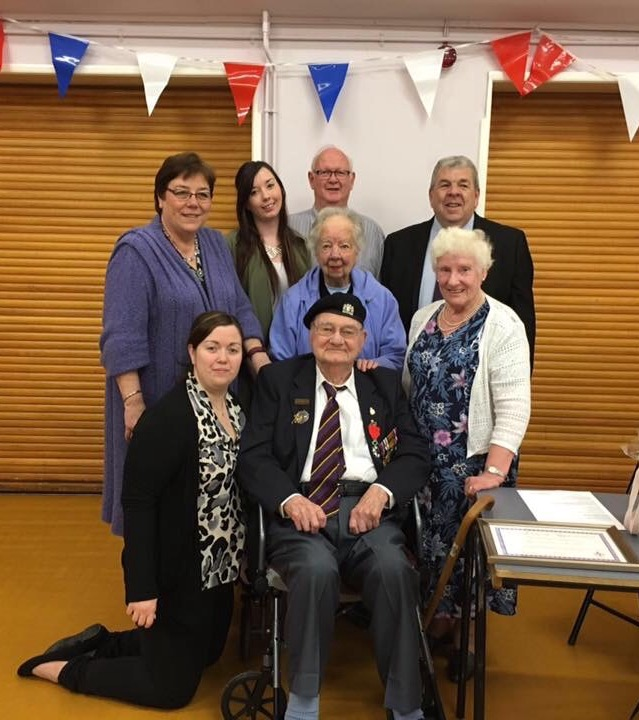 Ron Cornhill la Légion d'honneur presentation Parish APM April 2016