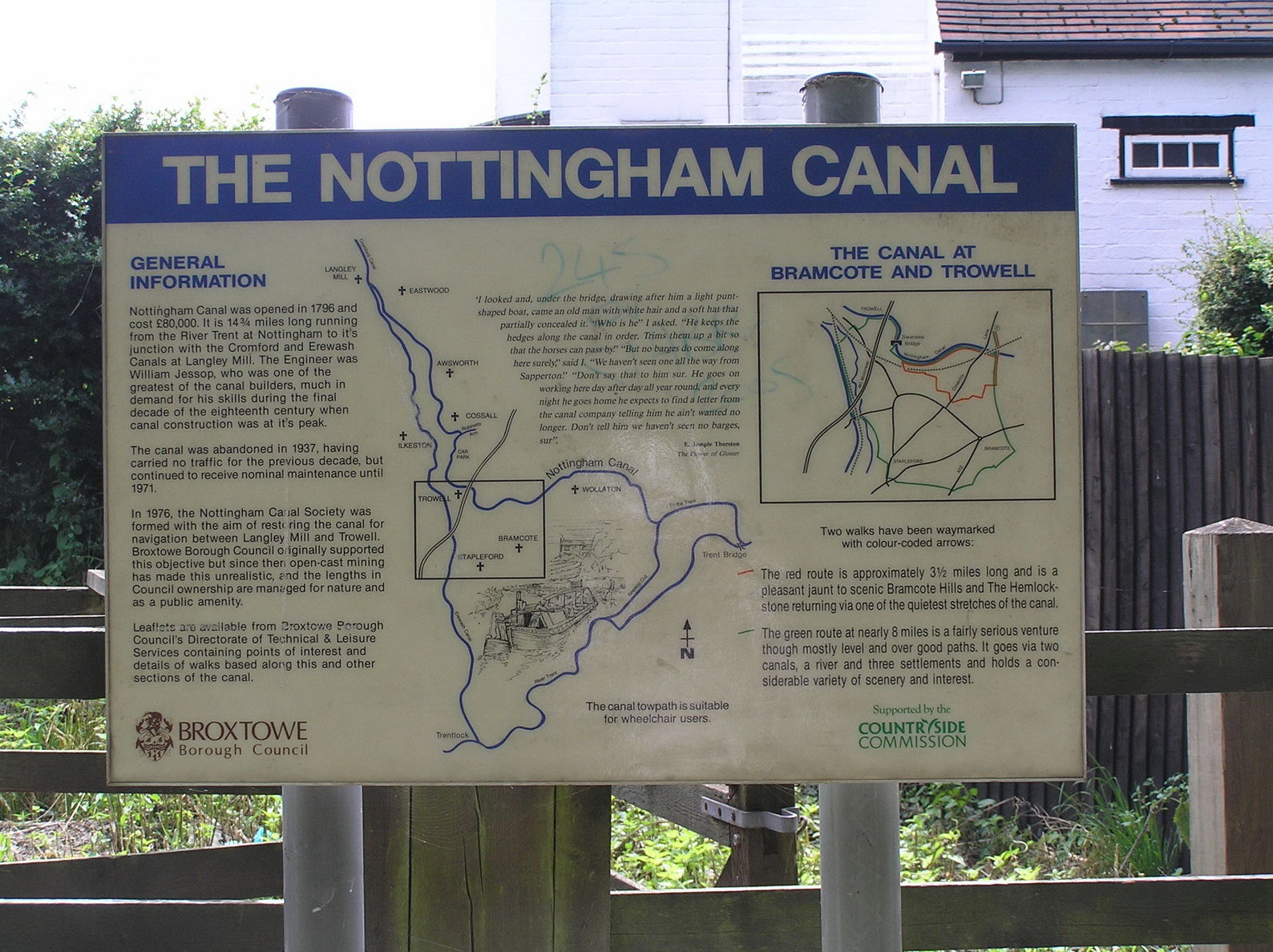 Nottingham Canal sign